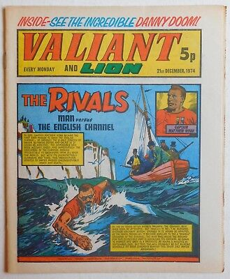 VALIANT and LION Comic - 21st December 1974