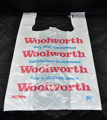 Woolworth Vintage Shopping Bag Retail Memorabilia New Old Stock Neato !!