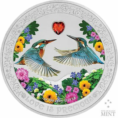2018 Love Is Precious Silver Coin - Kingfishers - 1 oz - Gift Present