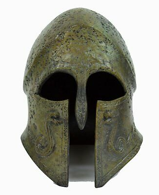 Corinthian Bronze Small helmet with Snakes- Ancient Greek Athenian Spartan Armor