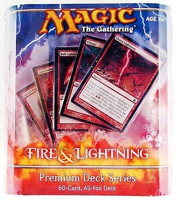 Magic the Gathering MTG Fire and Lightning Premium Foil Sealed Mint Unopened