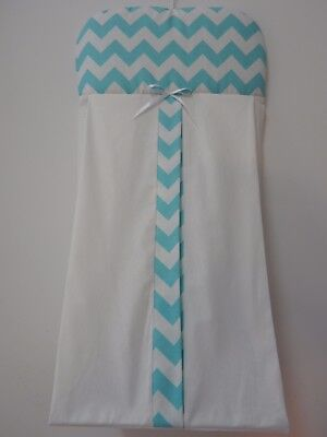 Aqua  Chevron Nappy Diaper Stacker 100% Cotton   Available in 9 Colours