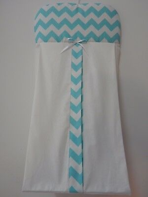 Nappy Diaper Stacker Aqua  Chevron 100% Cotton   Available in 9 Colours