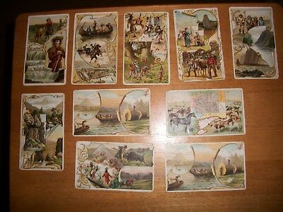 arbuckles coffee trading cards ten total 1880's