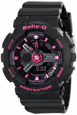 Casio Women's Baby-G Analog-Digital Display Quartz Black Watch Pink / Black