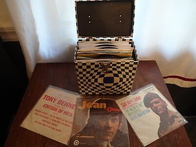 LOT OF 50 ~ 45's records w/Carry Case ~ See Full List Below ~ 1950's and 1960's