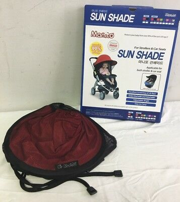 Manito Red Sun Shade for Strollers and Car Seats, Single