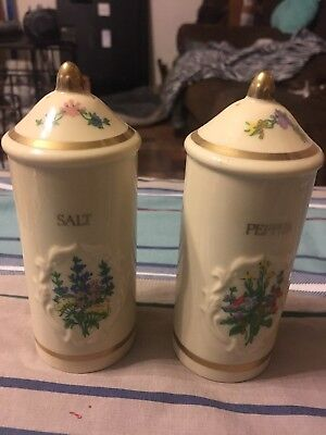 Lenox Spice Garden Porcelain Salt & Pepper Shakers 1994