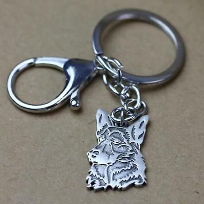 Metal German Shepherd Key Chain