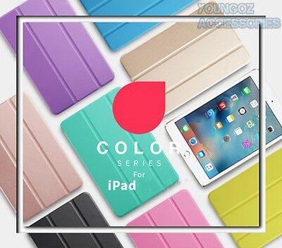 Smart Cover Hard Back Case for Apple iPad Mini 1 2 3 4/iPad 2 3 4/iPad Air / Pro