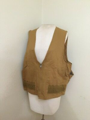 Vintage 1960s Sears Ted Williams Khaki  Hunting Vest Size Made In USA - O
