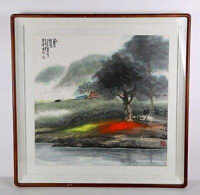 100% HANDPAINTED ASIAN FINE ART. WATERCOLOR PAINTING Artists Signed