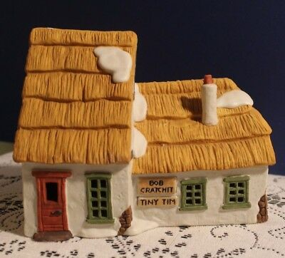 1988 Dept 56 Dickens' Village Series The Cottage of Bob Cratchit and Tiny Tim 65