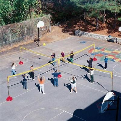 SET of 4 nets-Sportime 005812 Big Red FourCourt Volleyball System Nets Only