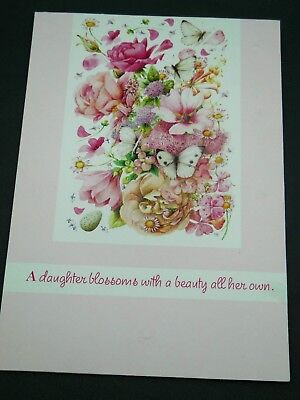 Marjolein Bastin Daughter Bday Card Nature's Sketchbook w/ Matching Envelope