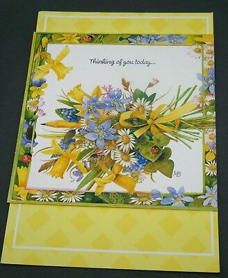Marjolein Bastin Thinking of You Card Nature's Sketchbook w/ Matching Envelope