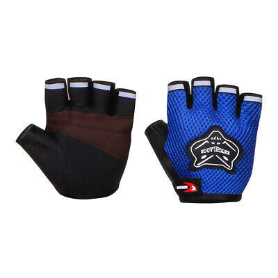Adaults Sports Padded Cycling Fingerless Gloves Bike Half Finger Bicycle Black L