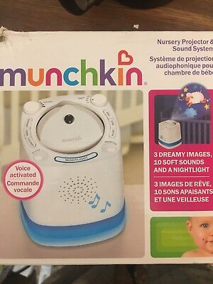Munchkin Nursery Projector and Sound System White (434372L)