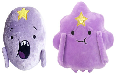 Cartoon Network ADVENTURE TIME LUMPY & Princess Plush Toy Stuffed Doll tall 15cm