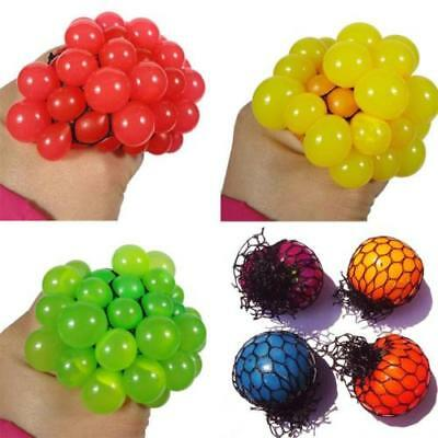 Funny Anti Stress Relief Toy Grape Ball Face Reliever Squeeze Gift Autism Mood