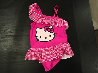 NEW Hello Kitty Sanrio Baby Toddler Swimsuit Girl Swim Size 5T NWT 1-pc UPF 50+