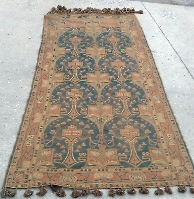 Very Clean Jungenstil/Art Nouveau Piano Shawl, Rug, Runner