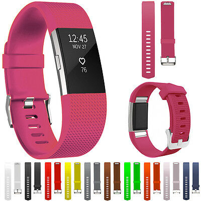 New Replacement Silicone Gel Watch Bands Straps Screen Film For Fitbit Charge 2