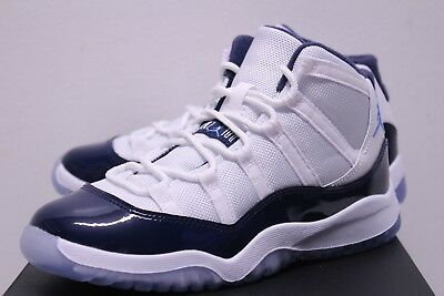 Air Jordan Retro 11 XI Win Like 82 Navy Blue White Sneakers Boy s Size 4- 7194926d8