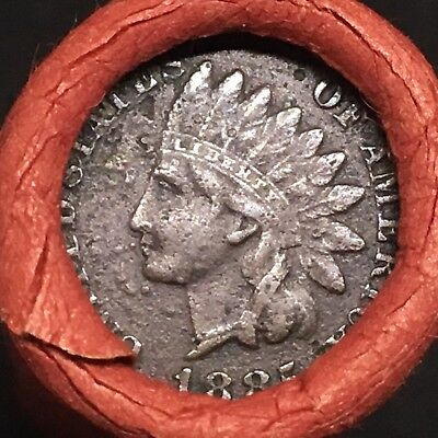 Best Of The Estate! 1885 Full Liberty Indian Showing Mixed Wheat Head Roll! R602