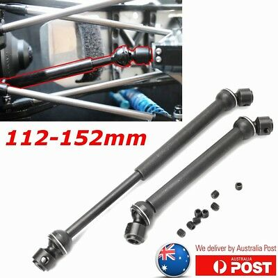 2Pcs Heavy Duty Steel Drive Shaft 112mm-152mm for Wraith 1/10 Axial SCX10