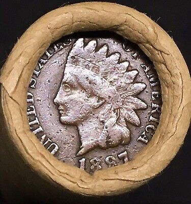 Old Estate! Wheat Head Mixed Roll! Rare 1897 Indian Head Showing On End!! R608