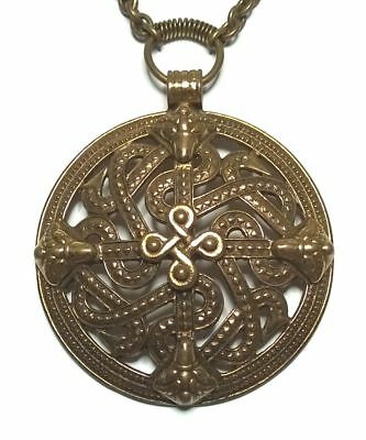 KALEVALA KORU KK Finland - Beautiful Vintage Bronze Necklace with Viking Motif