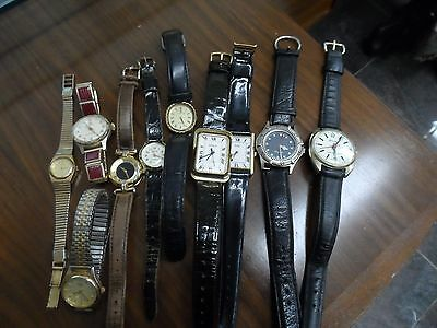 Assorted Mens and Ladies Quartz and Mechanical Watches (10)PARTS AND RESTORATION