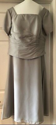 Mother Of The Bride Dress by Light In the Box, Size XL, Light Gray (worn once)