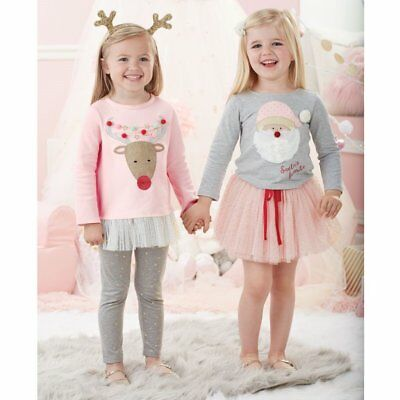 Mud Pie Pink Reindeer Tunic and Legging Set