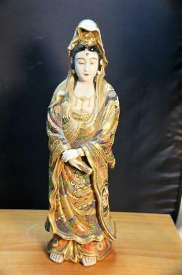 Very Fine & Old Japanese Satsuma Porcelain Figure of Kwan Yin Kannon Buddha