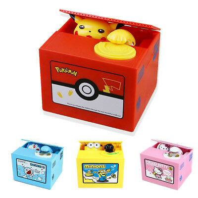 Pokemon-Go inspired Electronic Coin Money Piggy Bank box Limited Edition Pikachu