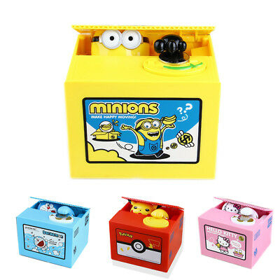 Pokemon-Go Minions inspired Electronic Coin Money Piggy Bank box Limited Edition