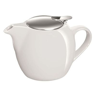 Avanti - Camelia Pure White Ceramic Tea Pot with Stainless Steel Lid and Infuser