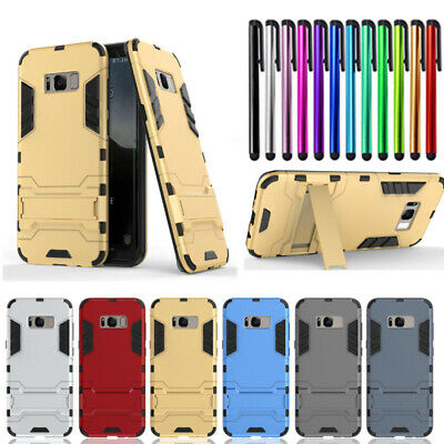 For Samsung Galaxy S8 S6 J3 Shockproof Kick Stand Hybrid Hard PC Case Back Cover