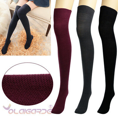 Womens Wool Cashmere Over Knee-High Warm Thick Soft Comfort Boot Socks Winter