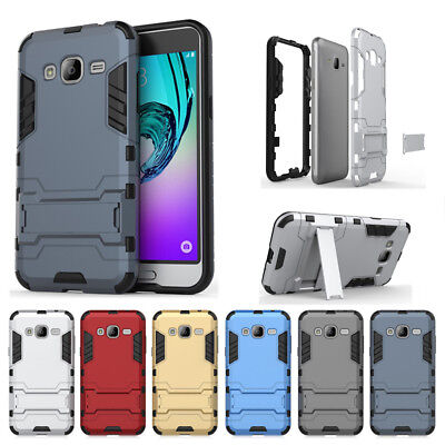 Hybrid Hard Armor Case Cover Protector Stand For Samsung Galaxy Phone J3 J5 J7