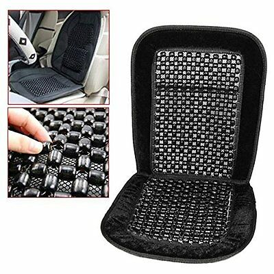 Black Wooden Bead Beaded Car Taxi Van Chair Massage Front Seat Cushion Cover