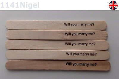 Will you marry me lolly pop sticks laser printed personalized messages available