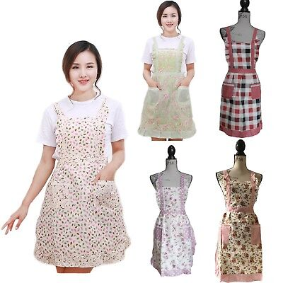 New Floral Print Country Cottage Style Aprons