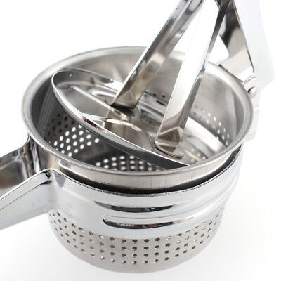 Stainless Steel Home Tool Potato Ricer Masher Fruit Vegetable Mincer Juice Puree