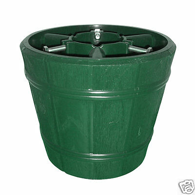 True Barrel Green Christmas Tree Stand for Real & Artificial Trees to 3m / 9.8ft