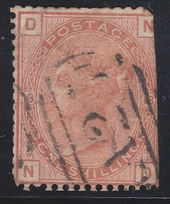 1873 Great Britain Stamps Used Abroad A25 in Malta 1s Plate 13 QV SG151 CV£700