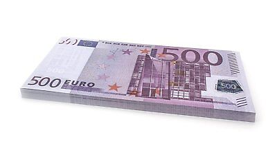 75 x €500 EURO Cashbricks® play money notes - size: 125%