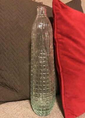 "Vintage Ear Of Corn Glass Bottle 13 1/2"" MSRF Clear Figural"